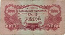 1944 1000 PENGO SOVIET RED ARMY ISSUE HUNGARY CURRENCY BANKNOTE NOTE BILL WWII