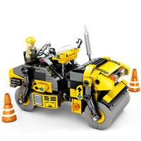 288pcs Engineering Truck Road Roller Vehicle Model Building Blocks Toys Bricks