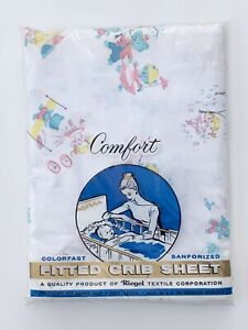 Riegel Fitted Crib Sheet Vintage Baby Girl Goldilocks Bears Cotton