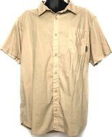 Columbia Sportswear Shirt - Mens Size XL - Beige Khaki Short Sleeve Button Front