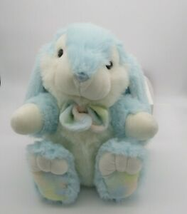 "Plush Easter Bunny Rabbit Light Blue 16""  Stuffed Animal Floppy Ears Big Spring"