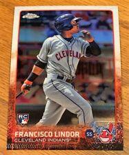 2015 TOPPS CHROME FRANCISCO LINDOR ROOKIE CARD RC SP NEAR MINT/MINT #202 INDIANS