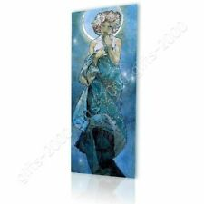 Moon by Alphonse Mucha   Canvas (Rolled)   Wall art giclee painting picture HD