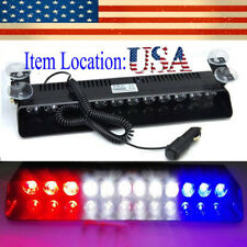 12 LED Emergency Strobe Light Bar Police Warning Flash Visor Deck Dash Lamp US