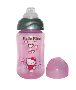 HELLO KITTY SIPPY CUPS FOR BABY 6 MONTHS .BABY WATER  BOTTLE  WITH  SOFT SILICON