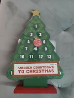 Countdown to Christmas Wooden Advent Calendar: Classic Wood Toy NIP
