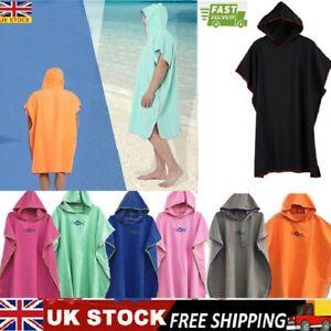 Colourful Hooded Poncho Towel Changing Robe Adult Beach Towel Surf Kitesurf UK