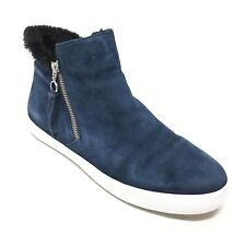 Women's Rebecca Minkoff Ankle Boots Shoes Size 11 M Navy Suede Side Zip AG13