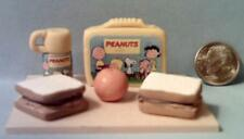 Barbie Doll Sized Peanuts Vintage Style Lunch Box Set