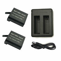 2 Battery +DUAL Charger for GoPro HERO4 GoPro AHDBT-401, AHBBP-401 Sport Camera