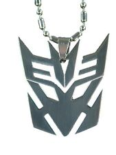"BUTW- Stainless Steel Transformers Decepticon  Pendant 24"" ball chain  4141E"