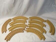 FISHER PRICE GEO TRAX TAN TRACK (10) Curved Track 7""