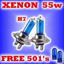 55w XENON HEADLIGHT BULBS Vauxhall Zafira H7 free 501's