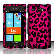 For Samsung Focus i677 Rubberized HARD Protector Case Cover Hot Pink Leopard
