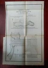 1892 Map Diagram Sketch, Harbor of Refuge, Grand Marais, Michigan