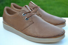 Clarks Mens Active Air Shoes OAKLAND LACE Dark Tan Leather UK 7.5 / 41.5