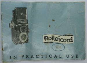 "Vintage Instruction Manual for the Rolleicord Va Film Camera ""In Practical Use"""