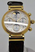 IWC Da Vinci 18ct Gold chronograph Moonphase quartz watch