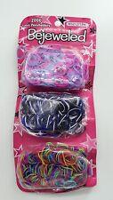 2000 Girl Navy colorful rainbow Latex Hair Ponytail Elastic braid Band holder
