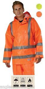 Ocean Off Shore Flame Resistant High-vis Jacket / Work Wear / Fishing / 30-2099