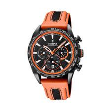 Festina Herrenuhr F20351-5 Chronograph orange-schwarz