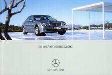 Mercedes E-Klasse Limousine Prospekt 2005 11/05 D brochure catalogue catalog