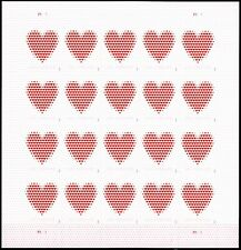 Us Scott # 5431 Full Sheet 20 Stamps Mnh, Made Of Hearts 2020