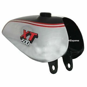 Aluminium Gas Benzin Tank Für YAMAHA XT500 TT500 Politur Schwarz Farbe + Kappe