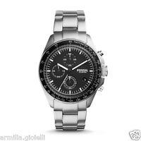 Orologio Fossil Watch CH3026 Cronografo Uomo Acciaio Nero Silver Tachymeter Man