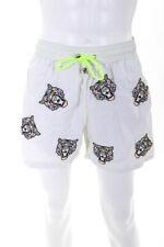 Les canebiers мужской все вышитые тигр купальные шорты белые размер Xl