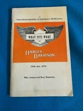 New Listing1936-76 Harley Davidson What Fit'S What Owners Manual