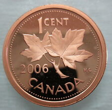 2006 CANADA 1 CENT HEAVY CAMEO PROOF NON-MAGNETIC PENNY COIN
