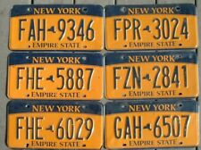 One New York 2013 2015 Empire State License Plate -in fair condition -