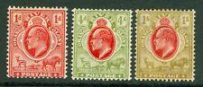 SG 149-151 Orange river colony 1d, 4d & 1/-. Mint CAT £80