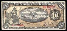 Veracruz, Gobierno Prov. de Mexico 10 Pesos O/P YUCATAN 1914. M3974f. F+