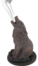 Lisa Parker Howling Wolf Incense Cone Burner Holder Wiccan Pagan Gothic Gry2