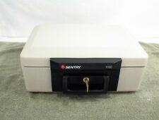 SENTRY 1100 SAFE LOCK BOX 1 KEY HOME SECURITY FIRE RESISTANT