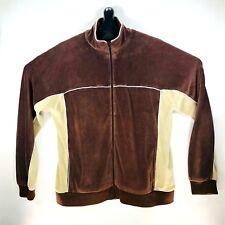 Stussy Japan Velour Paneled Track Jacket Men Large Brown