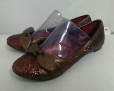 Bronx Bronze Glitter and Leather  Pumps. Size 5/38. Ex. Cond.