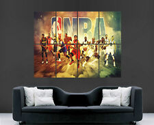 NBA BASKET POSTER legende Miami LAKERS CHICAGO BULLS Arte Muro Grandi USA