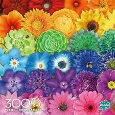 Buffalo Games Flower Spectrum 300 Large Piece Jigsaw Puzzle NEW! FREE SHIP!