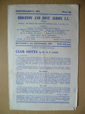 1959- BRIGHTON & HOVE ALBION Reserve v BIRMINGHAM Reserve,Hand Signed by Players