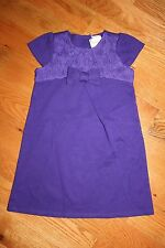 NWT Gymboree Joyful Holiday Size 5T Purple Ponte Rosette Bow Dress