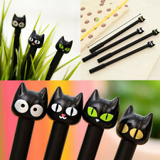 4pcs Black Cat Gel Pen Kawaii Stationery Creative Gift School Supplies 0.5mm GD