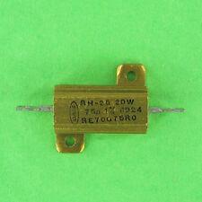Dale 75 Ohm 20W 1% Axial Lead Wirewound Power Resistor Aluminum Heat Sink RH-25