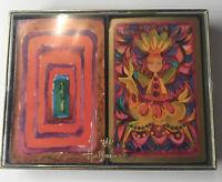 Vintage Hallmark 2 Pack Bridge Playing Cards Fiesta Latin Art Deco w Case