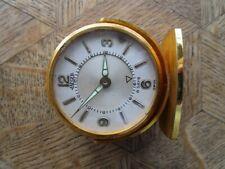 Vintage Gold plated JAEGER 8 Days Memovox Alarm Clock / Pendulette. Ref. 61.