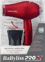 BaByliss PRO TT Tourmaline Titanium Travel Dryer 1000 Watt BABTT053T 110-220 Vol