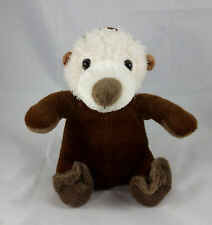 THE PETTING ZOO Cream Brown Sea Otter Sitting 2011 Plush Stuffed Animal Toy 8""