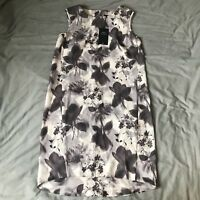 Next Floral Sleeveless Dip Hem Dress Size 8